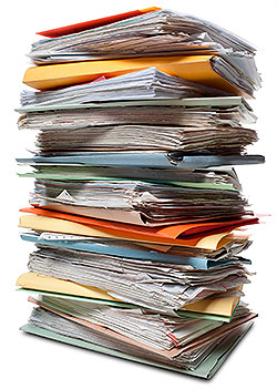 documents pile