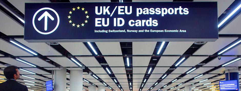 crossing EU border