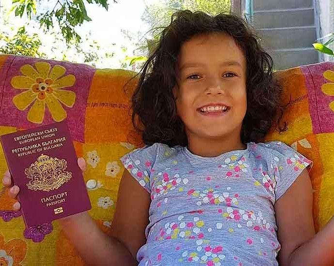 Girl with Bulgarian passport