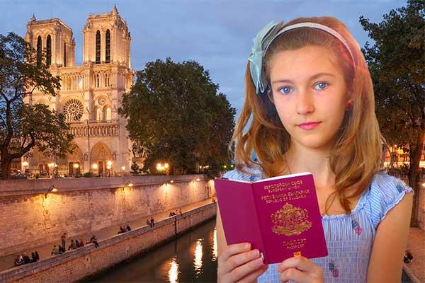 girl with Bulgarian passport