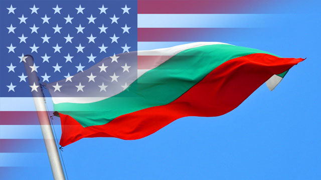 Bulgarian and American flags