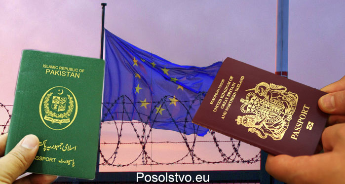 British vs Pakistani passport for EU travel